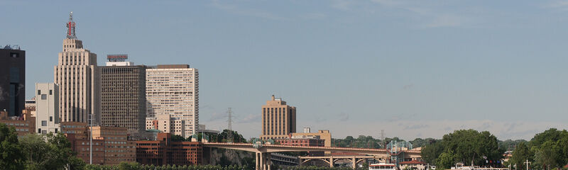 Mississippi River and downtown Saint Paul
