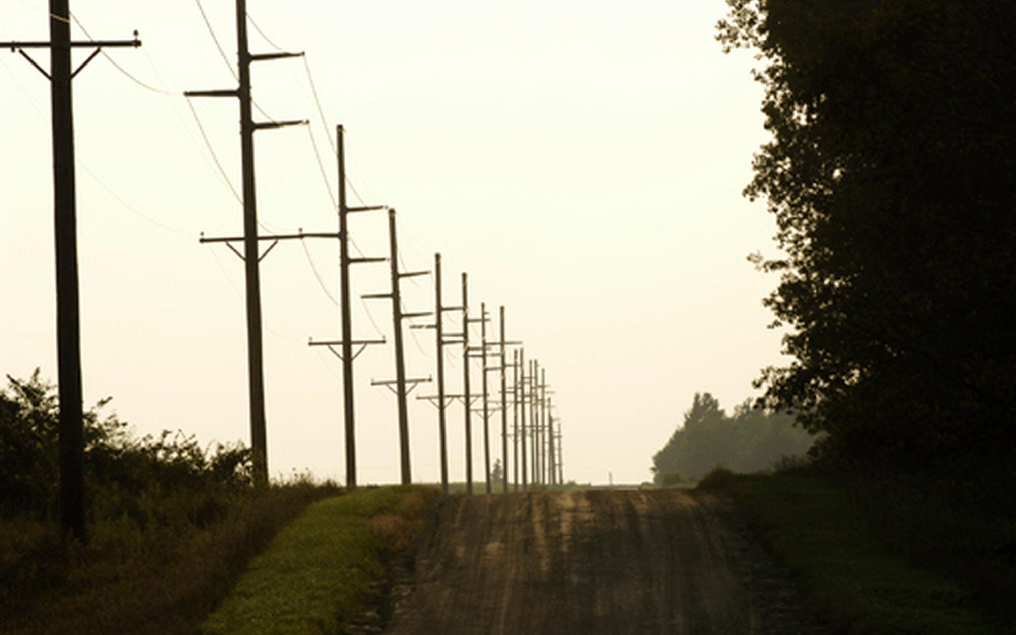Albert Lea road telephone poles