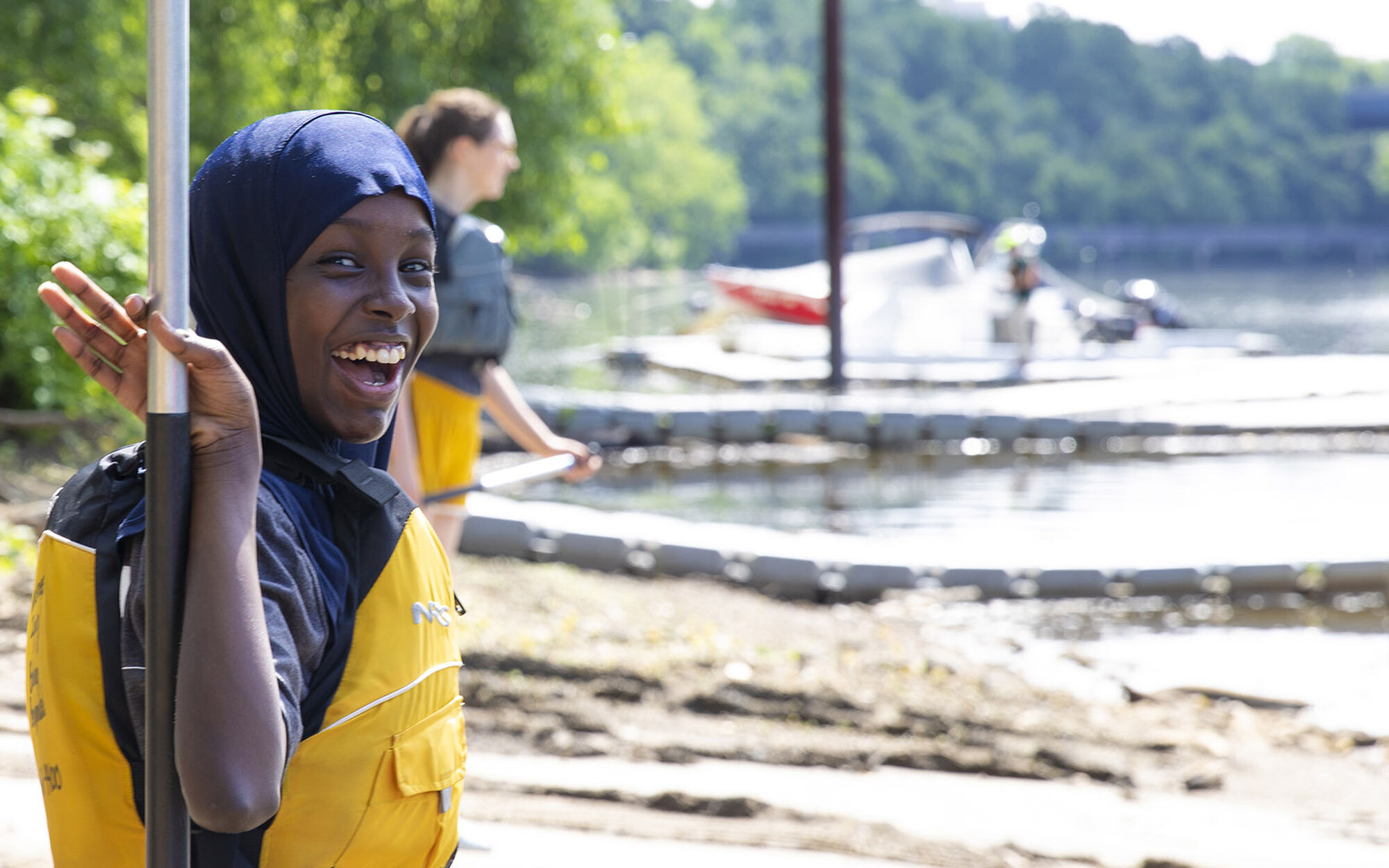 Youth participating in Wilderness Inquiry event along the Mississippi River