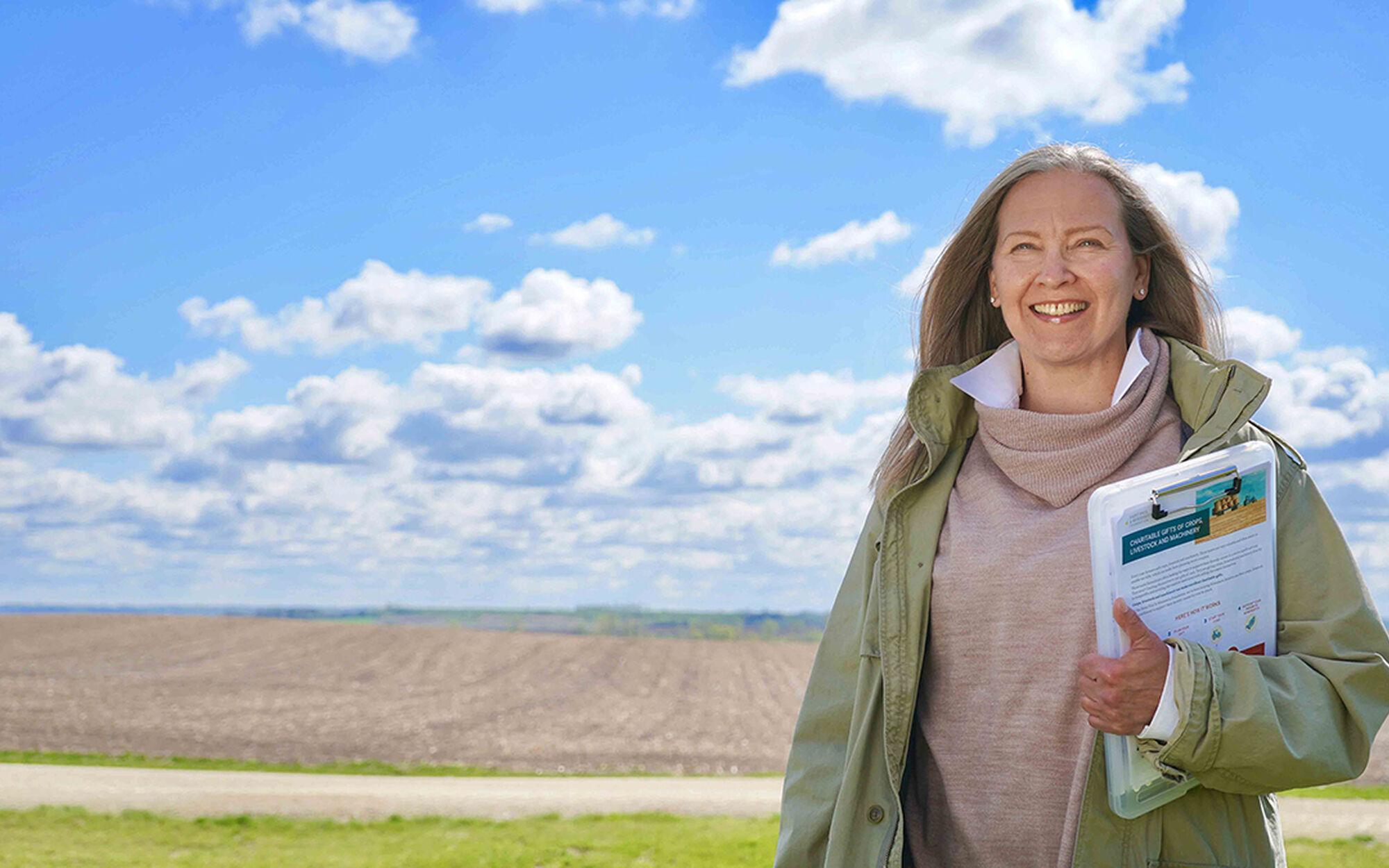 Gift planner Lisa Barton discussing donating farmland