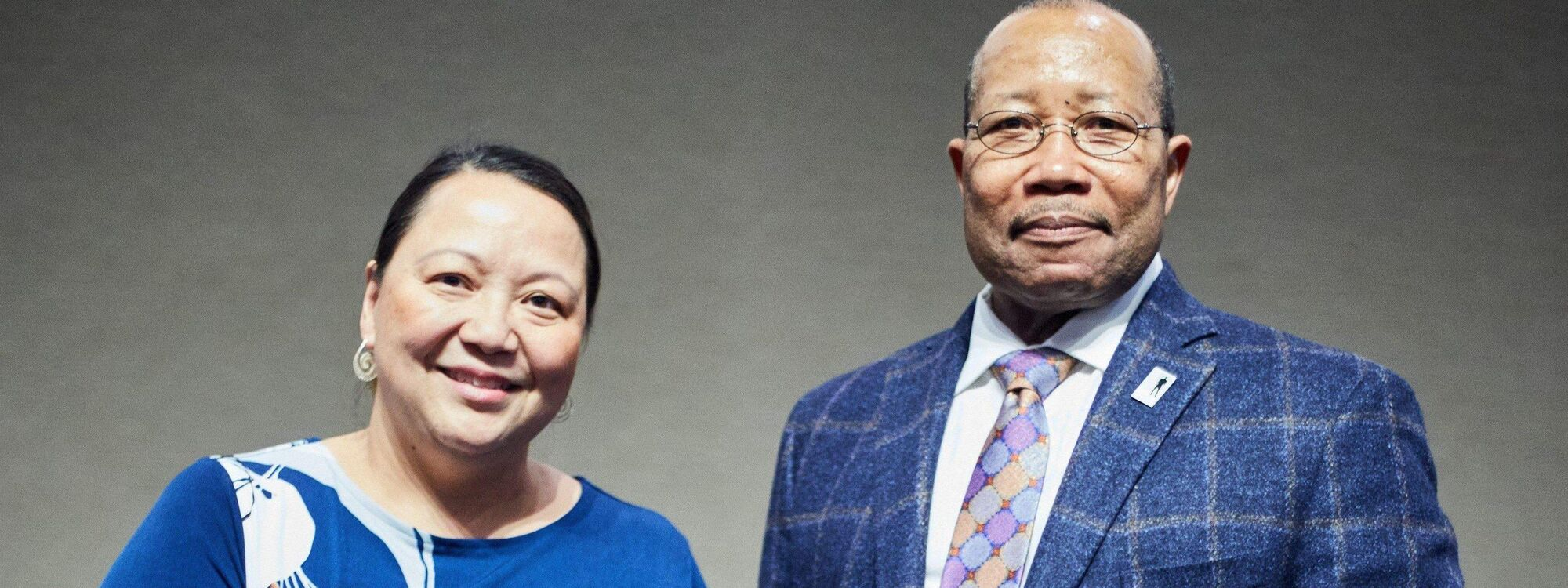 Past Facing Race Award Recipients Bo Thao-Urabe and Otis Zanders