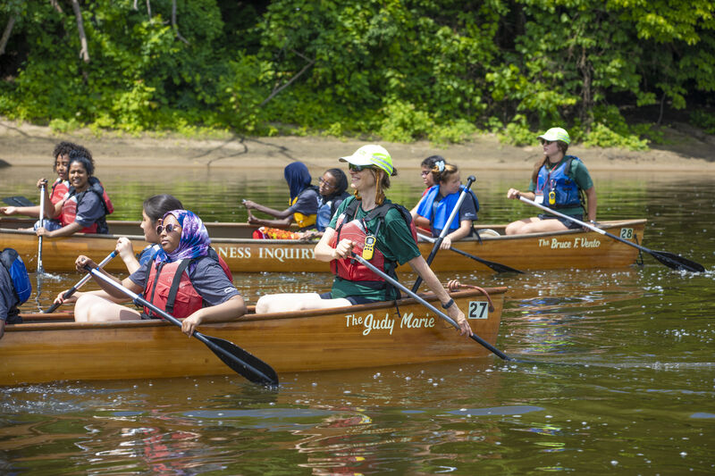 What we do inspire generosity wilderness inquiry participants paddle the mississippi river